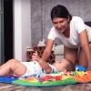 Exercițiu de echilibru pentru bebeluși